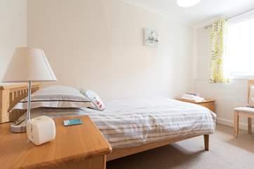 The first floor single bedroom.