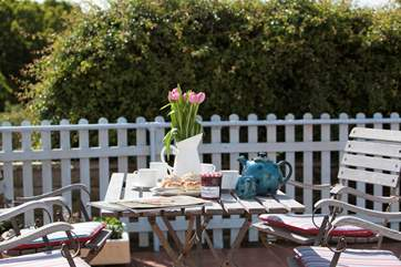 The patio is a fabulous place to enjoy a drink, some food and a good chat in the sunshine