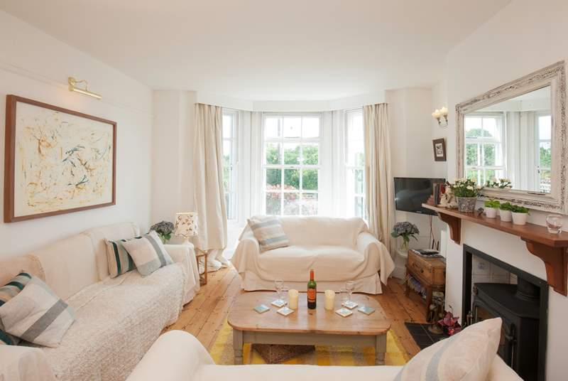 Complete with wood-burner, the sitting/dining-room is a cosy space to relax in the evenings, especially those colder ones