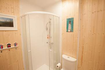 In addition to the downstairs en suite, there is a shower-room a great addition for a larger families
