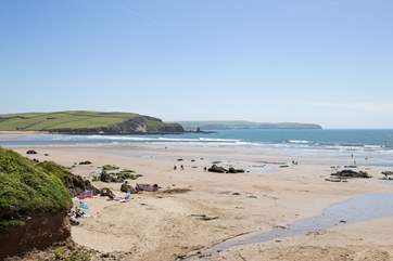 What a fabulous sandy beach in Bigbury-on-sea, only a short drive away.