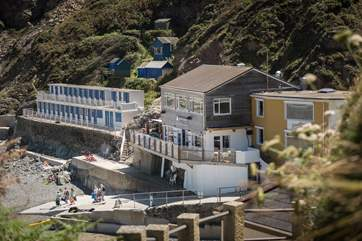 Schooners is a lovely bar/bistro on the beach at Trevaunance Cove with outstanding views.