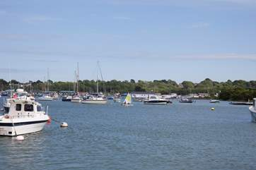 Just a five minute walk will take you to Bembridge Harbour.