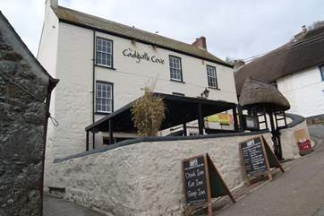 The Cadgwith Cove Inn, food locally-sourced with seafood caught by local Cadgwith fishermen and served to the table the same day.