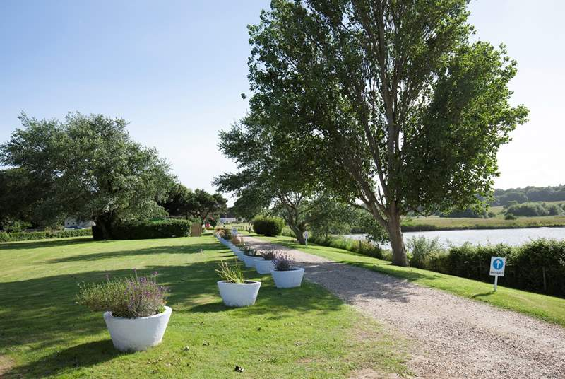 The Salterns Village is a rural and peaceful development, great for families