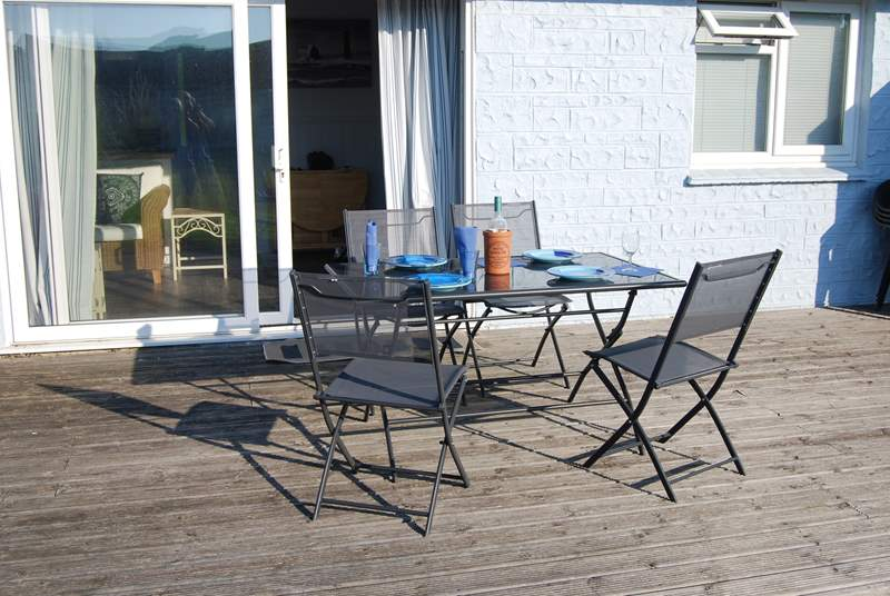 Dining on the decking is a must do on a warm sunny evening