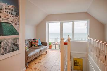 On the first floor is a galleried landing, a superb area to relax with wonderful views