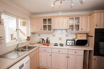 The sweet kitchen has everything you will need to cook, bake or host a lovely evening meal
