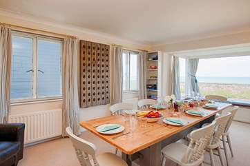 With seating for twelve around the dining room table, get everybody together to talk about the lovely day you have had exploring the Isle of Wight