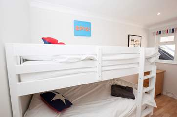 The bunk-bedroom is great for children with its own en suite WC and wash basin