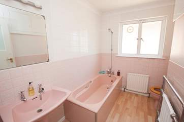 This bathrooom is convenient for the two bedrooms on the ground floor