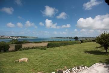 Looking from the patio area out onto the Camel Estuary.