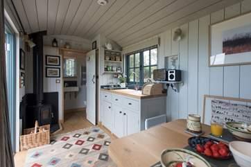 Tregwelan Shepherd's Hut is a delight.