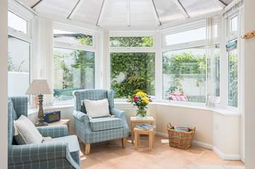 The sunny conservatory.