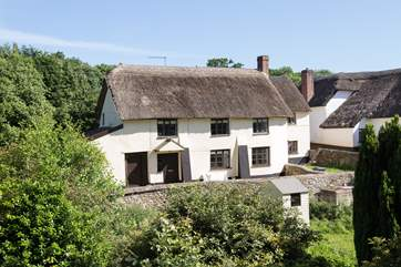 Another view of the cottage - its garden is to the left-hand side.