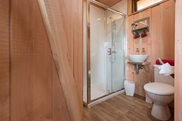 The spacious en suite shower-room.