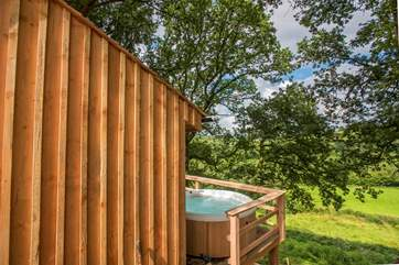 What better than a hot tub with a fabulous countryside view.