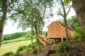 Wend your way through the woodland track to the most romantic of retreats.