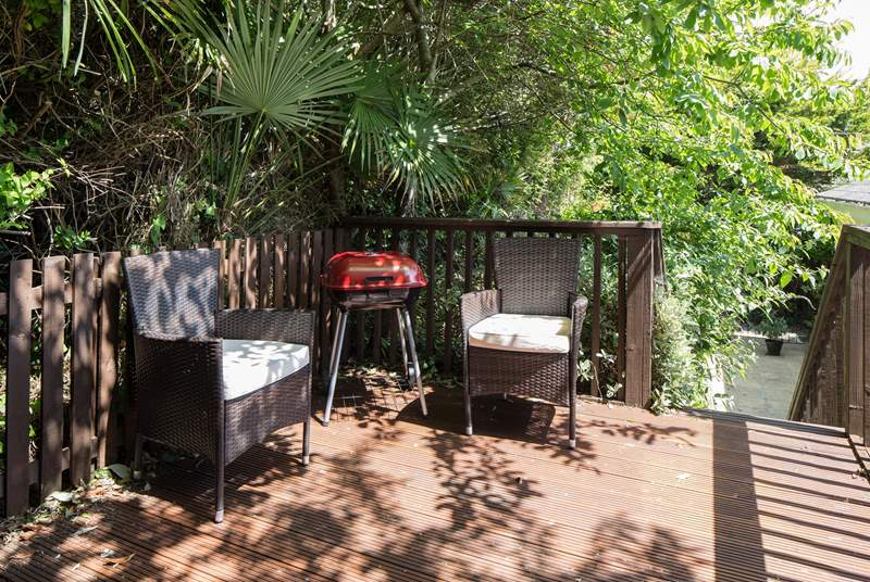 If you fancy a spot of shade, and more importantly peace and quiet, there is a lovely raised decked area at the rear of the property. The perfect secluded hideaway.