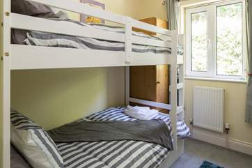 Bedroom 4 is the bunk bedroom. We would recommend that the top bunk is only to be used for children under 14 years old.