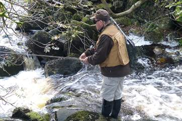 You also have your own private stretch of the River Tavy to fish on.
