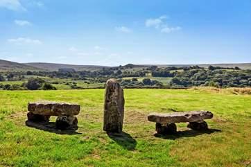 What stunning views over Dartmoor.