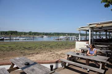 Have a drink by the riverside at The Folly, just a five minute drive away