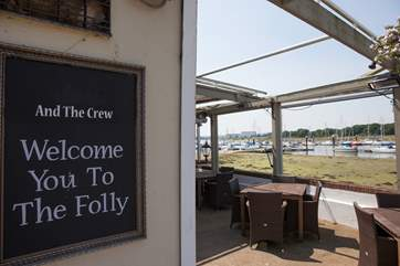 The Folly is a popular nearby pub, with fantastic views across the River Medina, why not pop down here for lunch?
