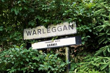The pretty village of Warleggen is twinned with Narnia.