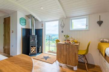 There are fabulous countryside views from inside and out.