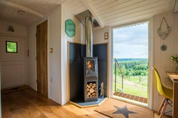 The quirky wood-burner is great and logs are inclusive.
