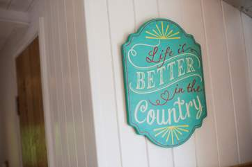 Life is better in the country!