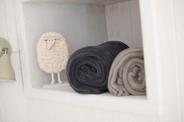 A shepherd's hut wouldn't be complete without a sheep!