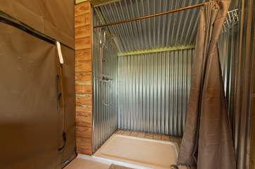 And a large walk-in shower.