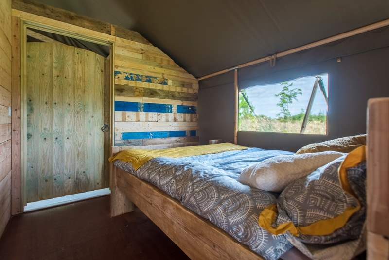 Tembo's double bedroom will look very similar to this (this is Twiga, the neighbouring safari tent).