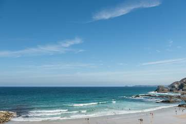 Wow! This fabulous beach is just a five minute drive (30 minute walk) from Paddy's Place.