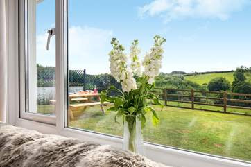 Lovely views from overlooking the garden.