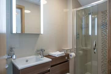 The stylish en suite shower-room for Bedroom 2.