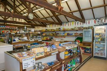There is a small but well stocked shop on site, opened during the camping season. Outside of these months, you can stock up with essential supplies in  the village of St Columb Major.