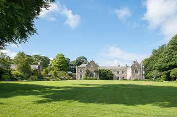 The large lawned area in front of the manor is yours to enjoy - have a picnic, lie out in the sun or enjoy some ball games.