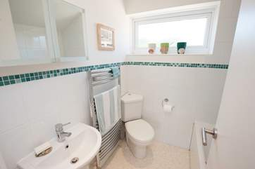 The family bathroom on the second floor, in addition to the en suite and cloakroom