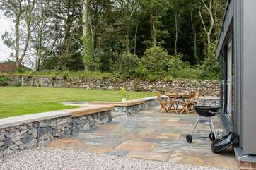 Why not light up the barbecue and enjoy the lovely private garden area?