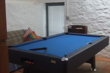 The pool-table in the snug.