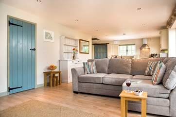 Plenty of room for everyone to chill out and relax after a day out exploring the delights of south Cornwall.
