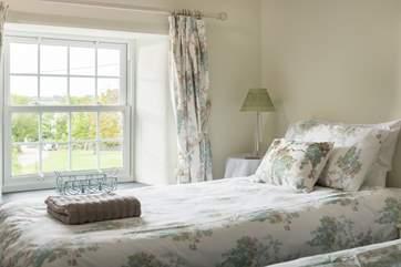 Bedroom 3 overlooks the green.