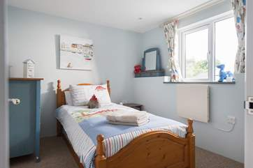 Bedroom 4 has a single bed (with a truckle bed available for an extra child).