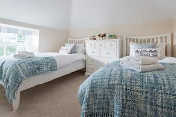 The twin room with 3ft single beds is suitable for children or adults.