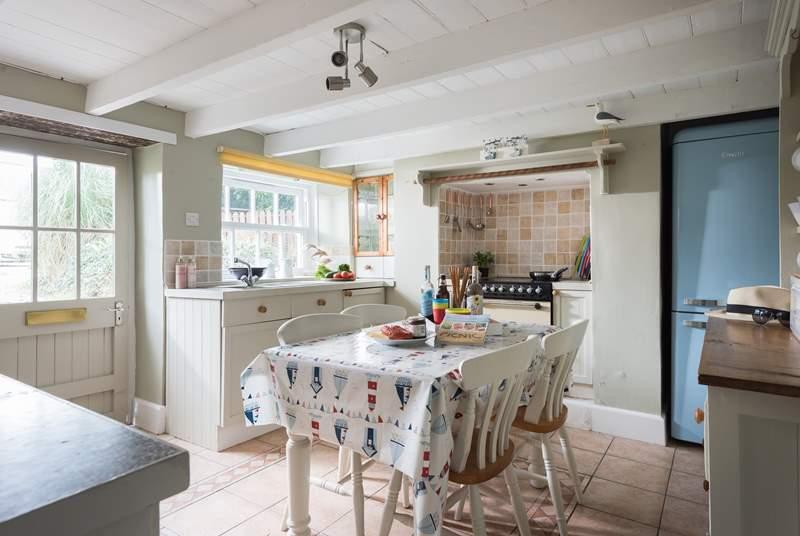 The cottage kitchen.