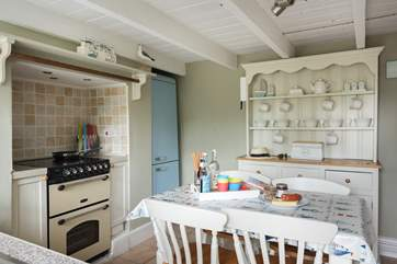 The country cottage kitchen.