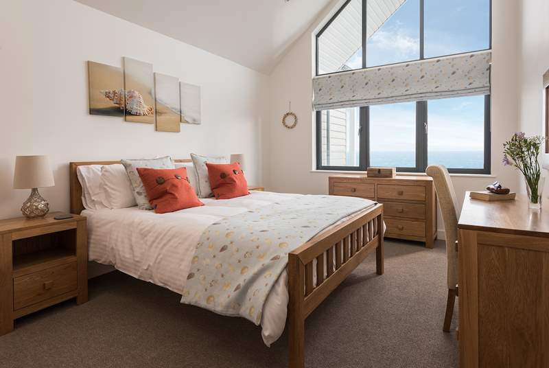 And room to sleep with more wonderful sea views.